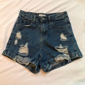 High waisted denim shorts -bought in Hong Kong